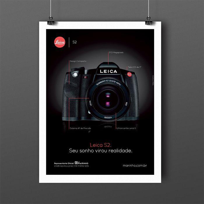 Criação de anúncio para Leica S2