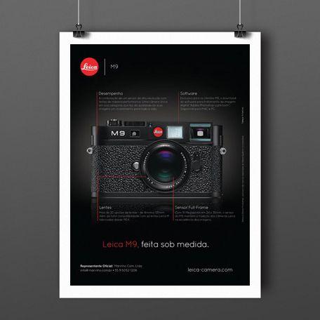 Criação de anúncio para Leica M9