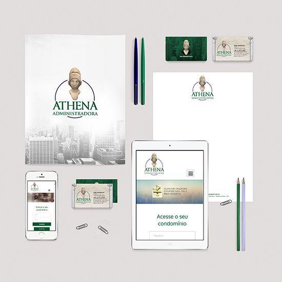 Logo e Papelaria - Athena Adm
