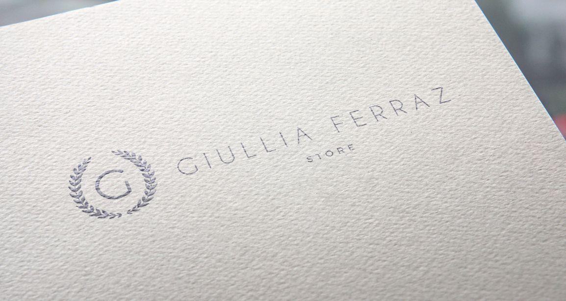 Logotipo e identidade visual da Giullia Ferraz Store