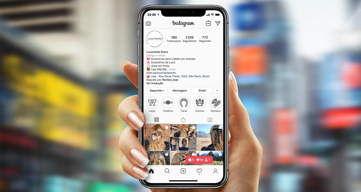 Mkt digital para as redes sociais da Luxuriante Store